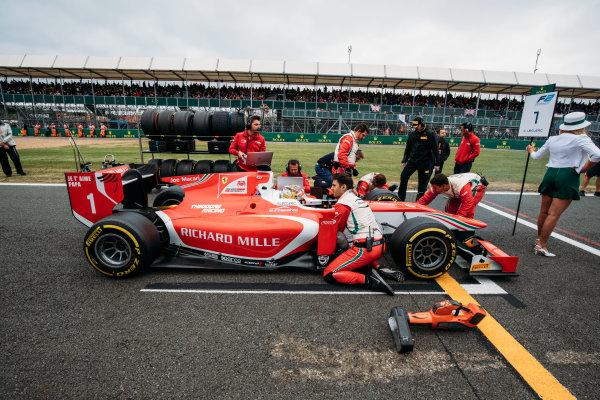 2017 FIA Formula 2 Round 6. Silverstone, Northamptonshire, UK. Saturday 15 July 2017. Charles Leclerc (MCO, PREMA Racing).  Photo: Malcolm Griffiths/FIA Formula 2. ref: Digital Image MALC6218