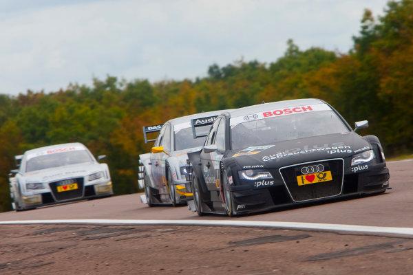 Dijon - Prenois, France. Sunday 11th October. Timo Scheider (Audi Sport Team Abt Audi A4 DTM). Action. World Copyright: Alastair Staley/LAT Photographic.Ref: _O9T0585 jpg
