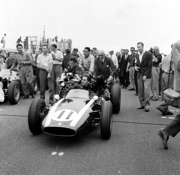 1960 Dutch Grand Prix.Zandvoort, Holland.4-6 June 1960.Jack Brabham (Cooper T53 Climax) 1st position.Ref-6531.World Copyright - LAT Photographic
