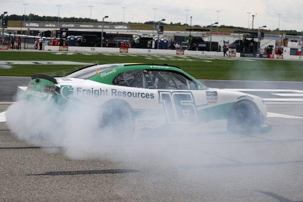 Race winner A.J. Allmendinger Kaulig Racing Chevrolet C2 Freight Resources, Copyright: Chris Graythen/Getty Images.