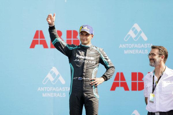 Mitch Evans (NZL), Panasonic Jaguar Racing, celebrates on the podium