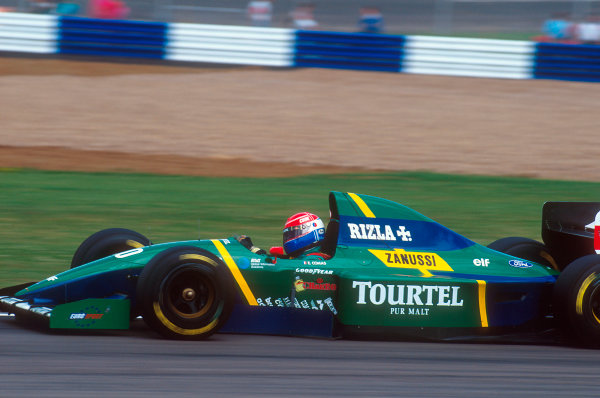 1994 British Grand Prix.Silverstone, England.8-10 July 1994.Erik Comas (Larrouse LH94 Ford). He exited the race after an engine problem.Ref-94 GB 36.World Copyright - LAT Photographic