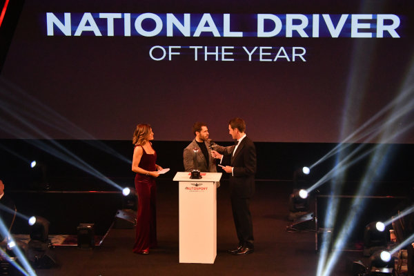 Presentation of the National Driver of the Year award by Kelvin Fletcher from Strictly Come Dancing