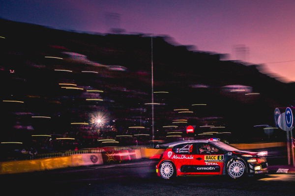 Stephane Lefebvre (FRA) / Gabin Moreau (FRA), Citroen Total Abu Dhabi World Rally Team Citroen C3 WRC at World Rally Championship, Rd11, RAAC Rally de Espana, Day Three, Costa Daurada, Catalunya, Spain, 8 October 2017.