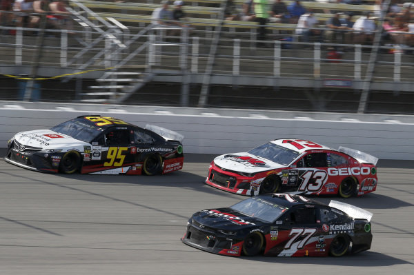 #77: Garrett Smithley, Spire Motorsports, Chevrolet Camaro Victory Lane Quick Oil Change / Kendall Oil #95: Matt DiBenedetto, Leavine Family Racing, Toyota Camry Toyota Express Maintenance #13: Ty Dillon, Germain Racing, Chevrolet Camaro K&L Ready Mix