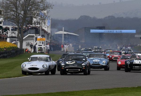 Graham Hill Trophy Start Jon Minshaw Jaguar E Beighton Tiger