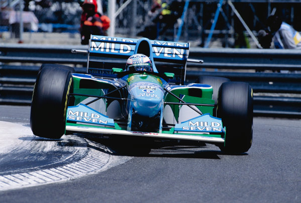 1994 Monaco Grand Prix.Monte Carlo, Monaco. 12-15 May 1994.J.J Lehto (Benetton B194 Ford) 7th position.Ref-94 MON 74.World Copyright - LAT Photographic