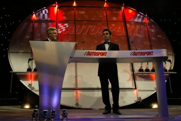 2002 Autosport Awards.Antonio Pizzonia.Grosvenor Hotel, London, England.1st December 2002.World Copyright: Spinney/LAT Photographic.Ref.: Digital Image Only.