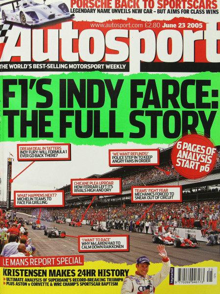 Cover of Autosport magazine, 23rd June 2005