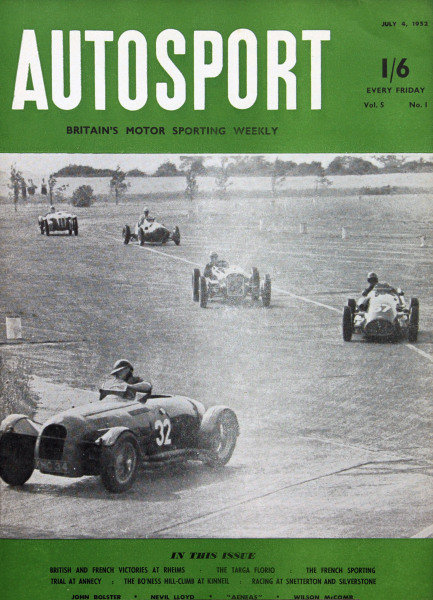 Cover of Autosport magazine, 4th July 1952