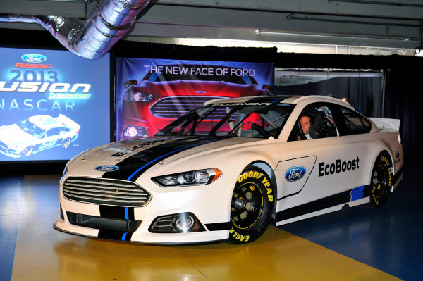 24 January, 2012, Concord, North Carolina, USAGreg Biffle enters at the unveiling of the 2013 Ford Fusion which will compete in the NASCAR Sprint Cup Series in 2013.(c)2012, LAT SouthLAT Photo USA