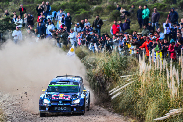 Andreas Mikkelsen (NOR) / Ola Floene (NOR) Volkswagen Polo R WRC at World Rally Championship, Rd4, Rally Argentina, Day One, Carlos Paz, Argentina, 24 April 2015.