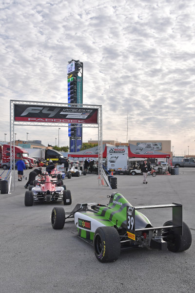 2017 F4 US Championship Rounds 1-2-3 Homestead-Miami Speedway, Homestead, FL USA Saturday 8 April 2017 F4 cars lined up for tech inspection World Copyright: Dan R. Boyd/LAT Images