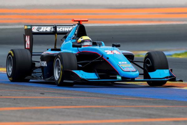 2016 GP3 Series Test 3. Circuit Ricardo Tormo, Valencia, Spain. Wednesday 26 April 2017. Arjun Maini (IND, Jenzer Motorsport)  Photo: Zak Mauger/GP3 Series Media Service. ref: Digital Image _54I2824
