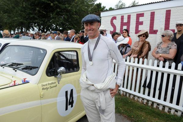 2016 Goodwood Revival Goodwood Estate, West Sussex,England 9th - 11th September 2016 St Mary's Trophy Race 1 David Brabham World Copyright : Jeff Bloxham/LAT Photographic Ref : Digital Image