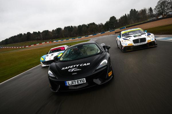 2018 British GT Championship, 9th March 2018, Donington Park, England UK. McLaren Safety Car World copyright. JEP/LAT Images