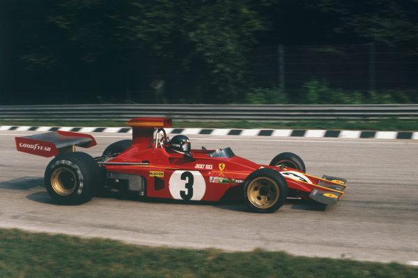 1973 Italian Grand Prix.  Monza, Italy. 7-9th September 1973.  Jacky Ickx, Ferrari 312B3, 8th position.  Ref: 73ITA34. World Copyright: LAT Photographic