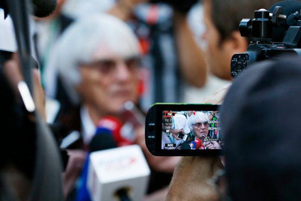 Sochi Autodrom, Sochi, Russia. Thursday 8 October 2015. Bernie Ecclestone, CEO and President, FOM.  World Copyright: Charles Coates/LAT Photographic ref: Digital Image _J5R7438