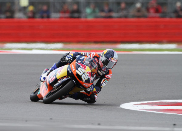 British Grand Prix.  Silverstone, England. 15th-17th June 2012.  Moto3. Danny Kent, KTM.  World Copyright: Kevin Wood/LAT Photographic.  ref: Digital Image IMG_8780a