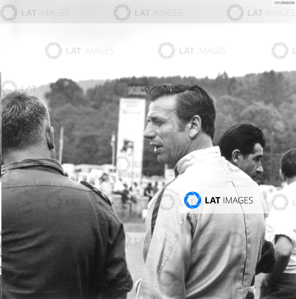 1966 Belgian Grand Prix.Spa-Francorchamps, Belgium. 12 June 1966.Jean-Pierre Sarti (actor Yves Montand) in the film
