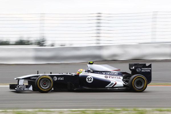 Pastor Maldonado (VEN) Williams FW33. Formula One World Championship, Rd 10, German Grand Prix, Practice Day, Nurburgring, Germany, Friday 22 July 2011.