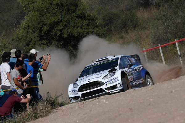 Ott Tanak (EST) / Raigo Molder (EST) Ford Fiesta RS WRC at World Rally Championship, Rd4, Rally Argentina, Preparations & Shakedown, Carlos Paz, Argentina, 22 April 2015.