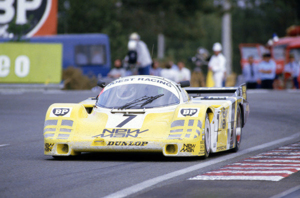 """1985 Le Mans 24 hours Le Mans, France. 15-16 June 1985 Klaus Ludwig/Paolo Barilla/""""John Winter"""" (Porsche 956), 1st position World Copyright: LAT Photographic"""