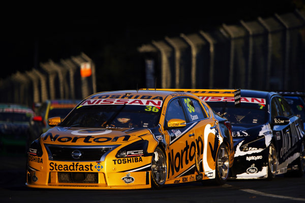 2014 V8 Supercar Championship. Round 1. Clipsal 500, Adelaide. 3rd March 2014. Sunday Race 2 .  Michael Caruso drives the #36 Norton Hornets Nissan Action.  World Copyright: Daniel Kalisz/LAT Photographic Ref: Digital Image040314DKIMG0023.JPG