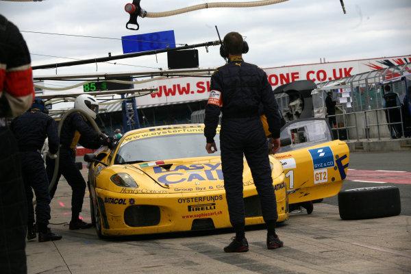 Silverstone, England. 11th - 13th September 2009. Paulo Maurice Basso (ITA)/Roberto Plati (ITA)/Gianpaolo Tenchini (ITA) - Easyrace Ferrari F430 GT.World Copyright: Hoyer/Ebrey/LAT Photographic.