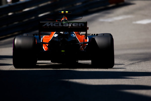 Monte Carlo, Monaco. Saturday 27 May 2017. Stoffel Vandoorne, McLaren MCL32 Honda. World Copyright: Charles Coates/LAT Images ref: Digital Image AN7T7249