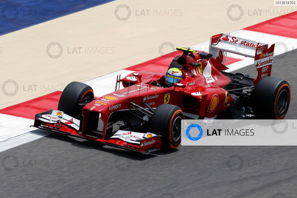 Bahrain International Circuit, Sakhir, Bahrain Friday 19th April 2013 Felipe Massa, Ferrari F138.  World Copyright: Charles Coates/LAT Photographic ref: Digital Image _N7T0190
