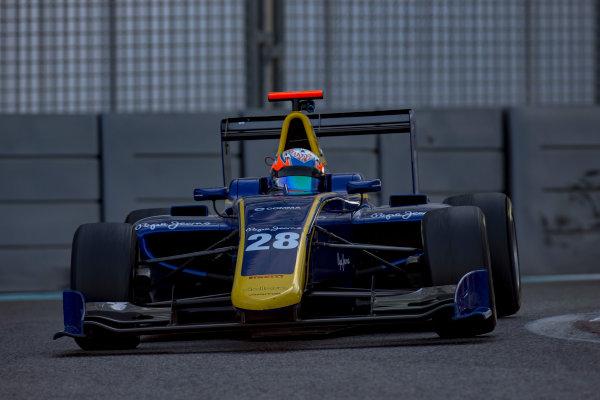 2016 GP3 Series Test 5. Yas Marina Circuit, Abu Dhabi, United Arab Emirates. Thursday 1 December 2016.Tarun Reddy (IND, DAMS)  Photo: Zak Mauger/GP3 Series Media Service. ref: Digital Image _X0W2569