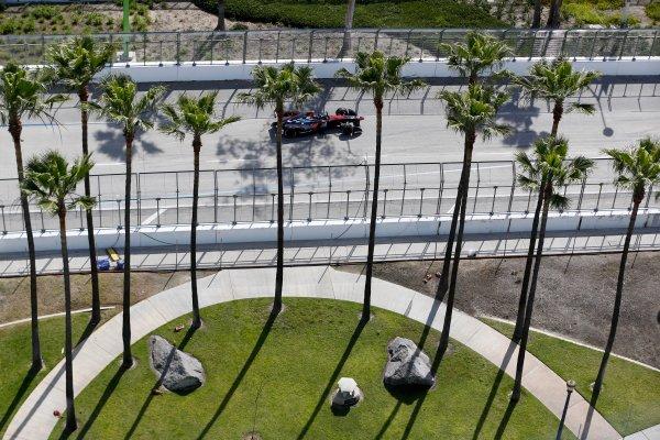 2014/2015 FIA Formula E Championship. Long Beach ePrix, Long Beach, California, United States of America. Friday 3 April 2015 Nick Heidfeld (GER)/Venturi Racing - Spark-Renault SRT_01E  Photo: Jed Leicester/LAT/Formula E ref: Digital Image _JL10591