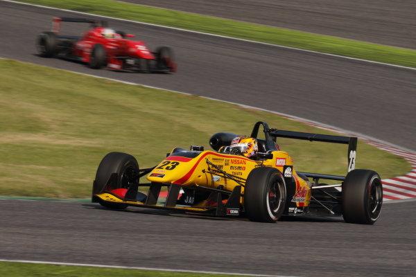 2015 Japanese Formula 3 Championship. Suzuka, Japan. 18th - 19th April 2015. Rd 1 & 2. Rd.1 Winner Mitsunori Takaboshi ( #23 B-MAX NDDP F3 ) action World Copyright: Yasushi Ishihara/LAT Photographic. Ref: 2015JF3_Rd1&2_004