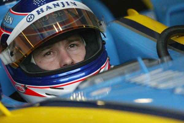 2003 San Marino Grand Prix - Friday 1st QualifyingImola, Italy. 18th April 2003Jarno Trulli, Renault R23.World Copyright: Steve Etherington/LAT Photographic ref: Digital Image Only