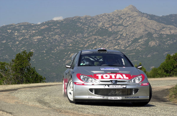 2001 World Rally Championship.Rallye de France, Ajaccio, Corsica, October 19-21.Gilles Panizzi during shakedown.Photo: Ralph Hardwick/LAT