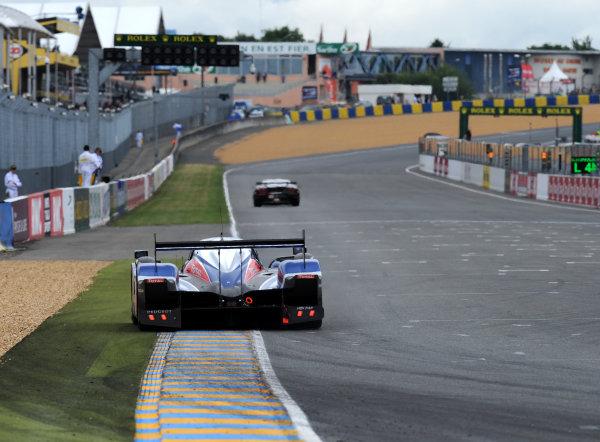 Circuit de La Sarthe, Le Mans, France. 6th - 13th June 2010.Alex Wurz / Marc Gene / Anthony Davidson, Team Peugeot Total, No 1 Peugeot 908 HDi FAP. Action. World Copyright: Jeff Bloxham/LAT PhotographicDigital Image DSC_6696 JPG