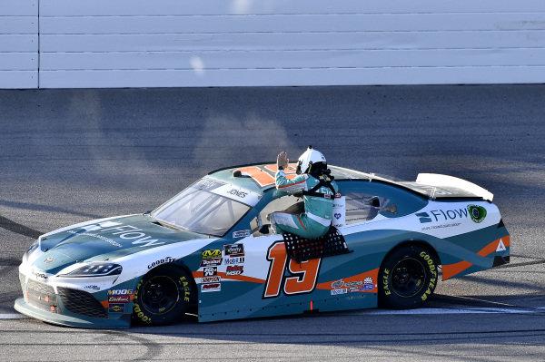 #19: Brandon Jones, Joe Gibbs Racing, Toyota Supra Flow wins