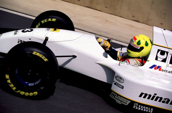 1993 South African Grand Prix.Kyalami, South Africa.12-14 March 1993.Christian Fittipaldi (Minardi M193 Ford) 4th position.World Copyright - LAT Photographic