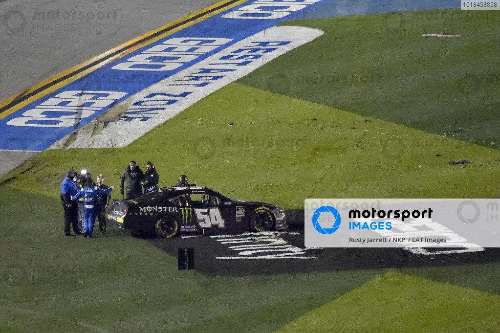 #54: Ty Gibbs, Joe Gibbs Racing, Toyota Supra Monster Energy wins