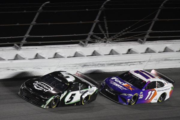 #5: Kyle Larson, Hendrick Motorsports, Chevrolet Camaro NationsGuard #11: Denny Hamlin, Joe Gibbs Racing, Toyota Camry