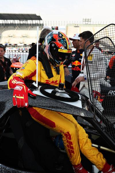 Ryan Hunter-Reay (USA) prepares to drive the ROC Car