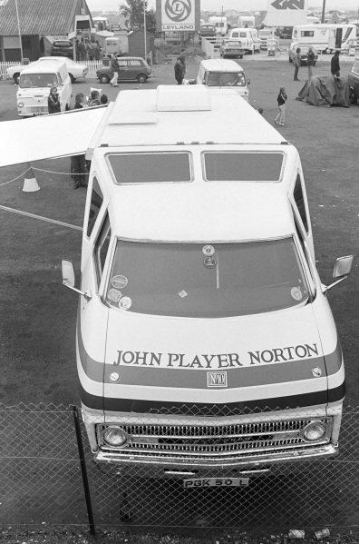 The John Player Norton team's RecTrans Discoverer campervan.