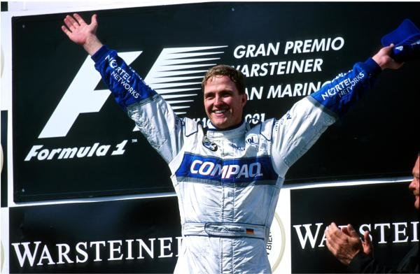 Ralf Schumacher(GER) BMW Williams FW23 who won the race San Marino GP, Imola, Italy, 15 April 2001 BEST IMAGE