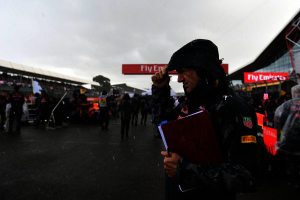 Adrian Newey (GBR) Red Bull Racing on the grid at Formula One World Championship, Rd10, British Grand Prix, Race, Silverstone, England, Sunday 10 July 2016. BEST IMAGE