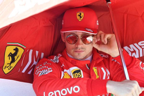 Charles Leclerc, Ferrari, on the grid