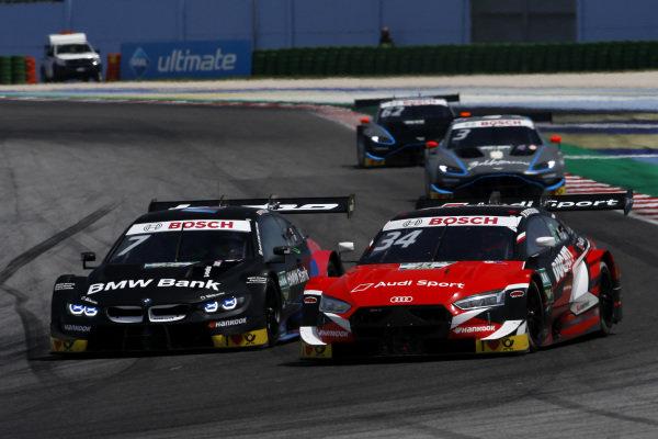 Bruno Spengler, BMW Team RMG, BMW M4 DTM, Andrea Dovizioso, Audi Sport Team WRT, Audi RS 5 DTM.
