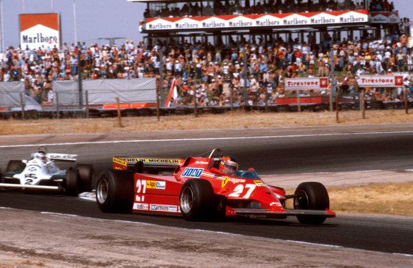 1981 Spanish Grand Prix.Jarama, Madrid, Spain.28-31 May 1981.Gilles Villeneuve (Ferrari 126CK) 1st position. Ref-81 ESP 12.World Copyright - LAT Photographic