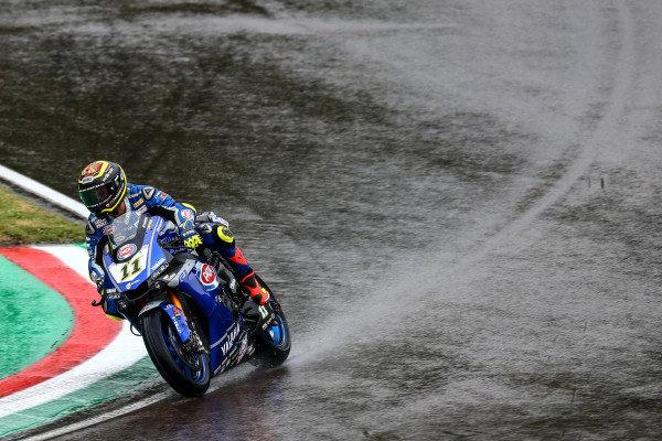 Sandro Cortese, GRT Yamaha WorldSBK on wet assessment laps.