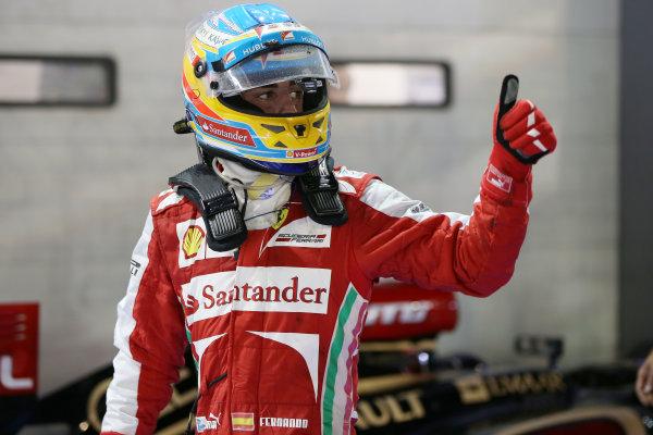Marina Bay Circuit, Singapore. Sunday 22nd September 2013.  Fernando Alonso, Ferrari.  World Copyright: Andy Hone/LAT Photographic. ref: Digital Image HONZ6010